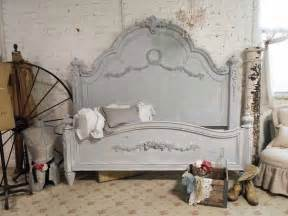 painted cottage shabby grey king romance bed