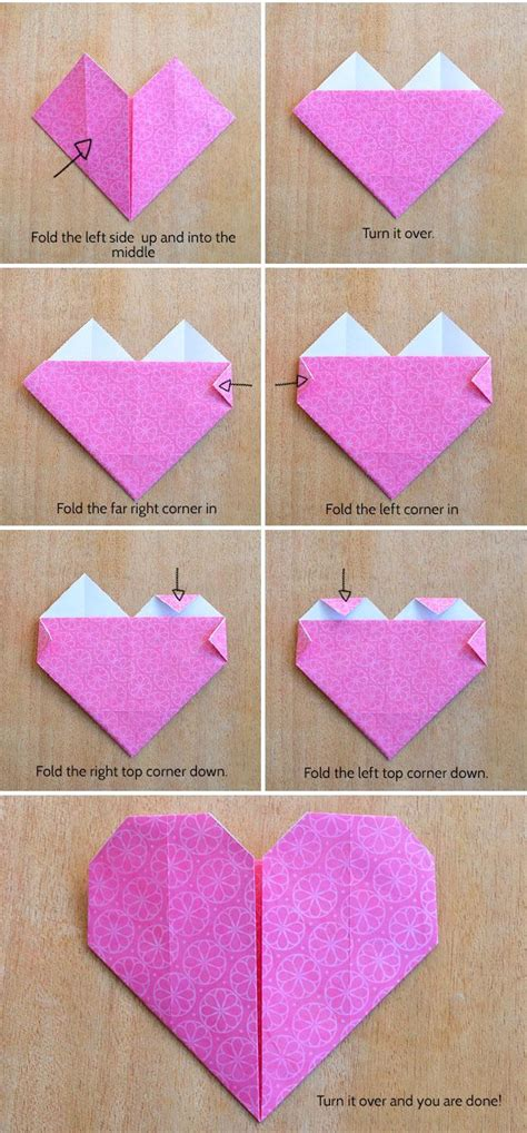 How Do You Make Paper Hearts - make an origami kidspot