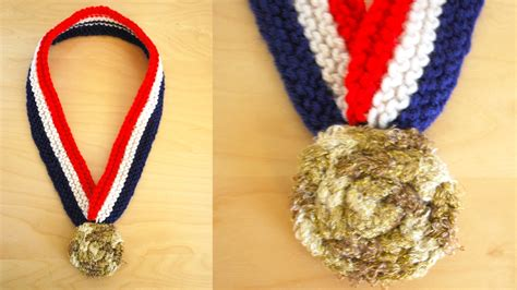 gold medal pattern how to make an olympic gold medal ribbon studio knit