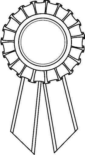 coloring page first place ribbon dibujo para colorear medalla premio buscar con google