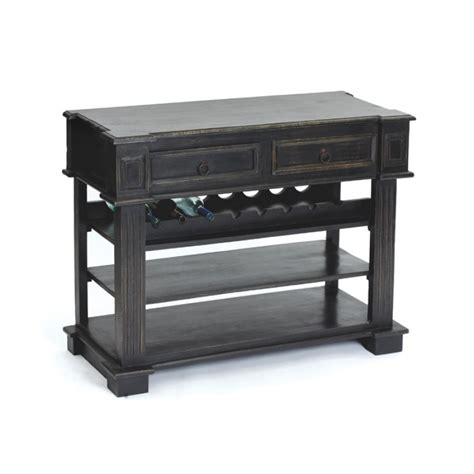 wine rack console table sonoma black wood console table with wine rack