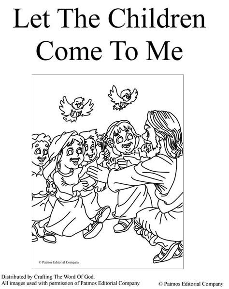 Let The Children Come To Me Coloring Page let the children come to me coloring page 171 crafting the