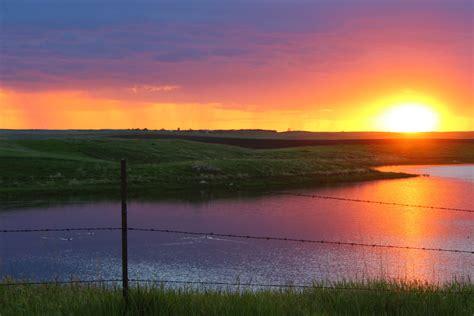 stunning sunsets  north dakota