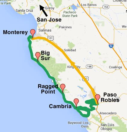 california map big sur