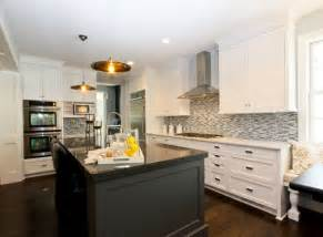 White Kitchen Black Island by Kitchen White Cabinets Black Island Interior Amp Exterior