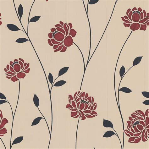 black and white wallpaper designs b q colours sienna black cream red floral wallpaper