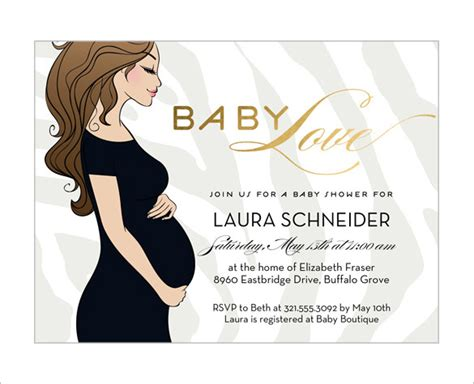 baby shower invitation card template baby shower card template 32 free printable word pdf