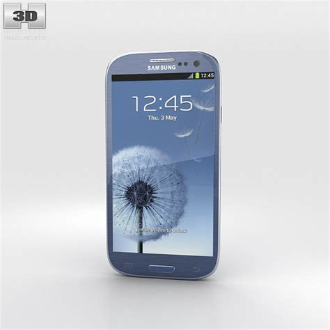 Samsung S3 Neo samsung galaxy s3 neo pebble blue 3d model humster3d