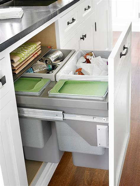 Recycling Cabinets Kitchen Eight Approaches To Hide Or Dress Up An Unsightly Kitchen Trash Can Best Of Interior Design