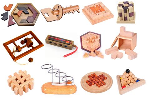 metal wooden puzzles brain teasers games for kids classic iq 3d wooden puzzle mind brain teasers wood