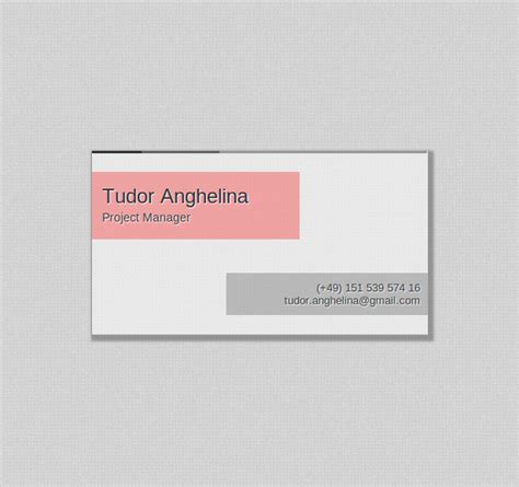 single page html5 css3 business card template 2 0