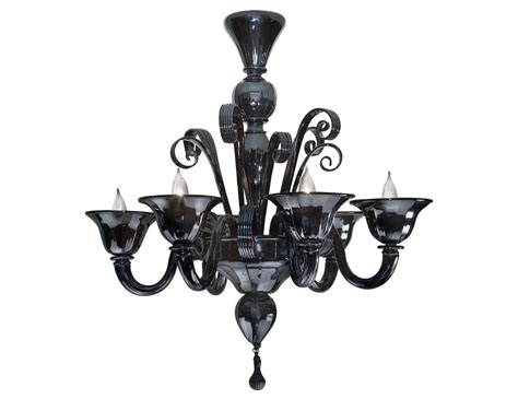 Black Murano Glass Chandelier Nella Vetrina Black Murano 6 959 6 Murano Chandelier In Black