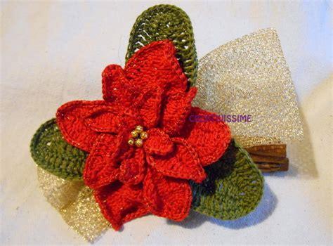 fiori fatti ai ferri centrotavola stella di natale con cannella all uncinetto