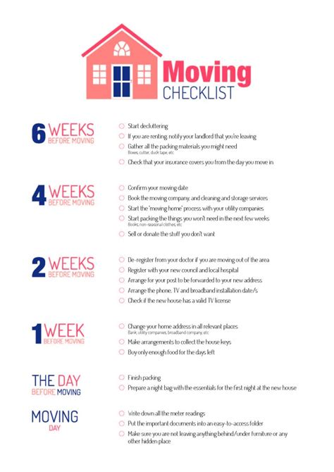 list of things to buy when moving into a new house moving day free printable checklist mum s the word