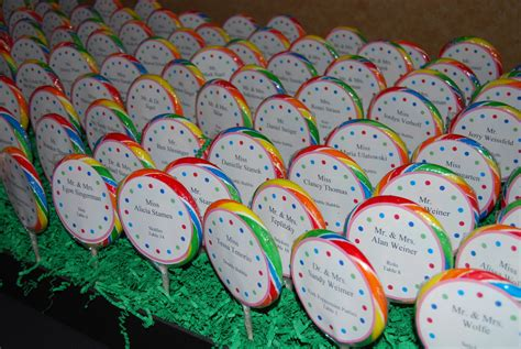 themes lollipop custom lollipop seating cards for a quot sweet quot candy theme