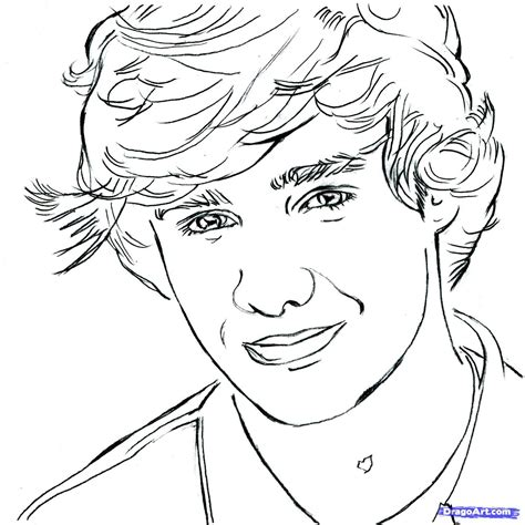 coloring pages one direction online liam one direction drawings step 10 how to draw liam