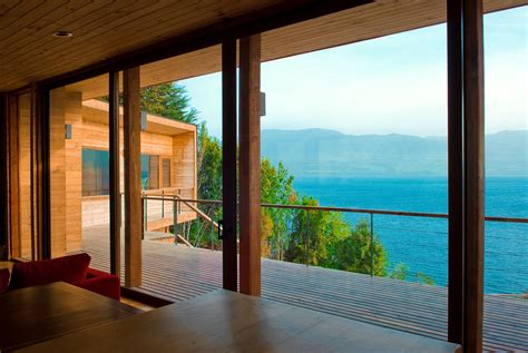 modern retreat   chilean lake district