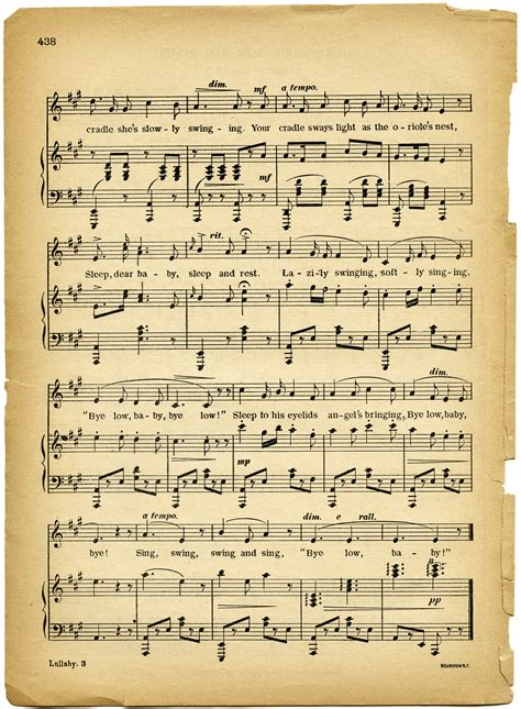 this old house sheet music free vintage images lullaby sheet music old design shop blog