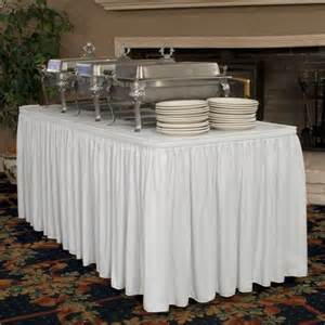How To Make Buffet Table Skirting Table Skirts For Wedding Reception Tables