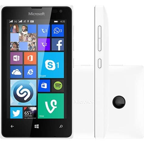 Hp Android Nokia Lumia 435 smartphone microsoft lumia 435 dual chip desbloqueado windows phone 8 1 tela 4 8gb 3g wi fi