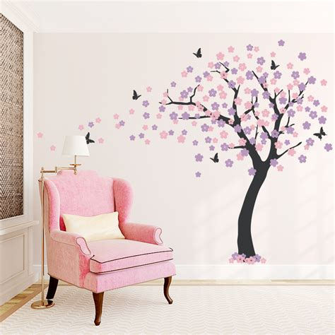 sticker trees for walls cherry blossom tree wall decal styleywalls on artfire