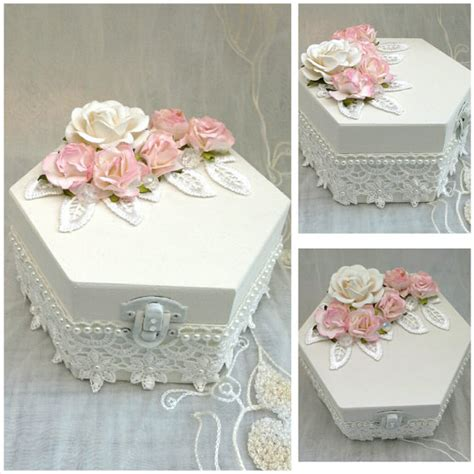 shabby chic jewellery box trinket box keepsake box by aligri
