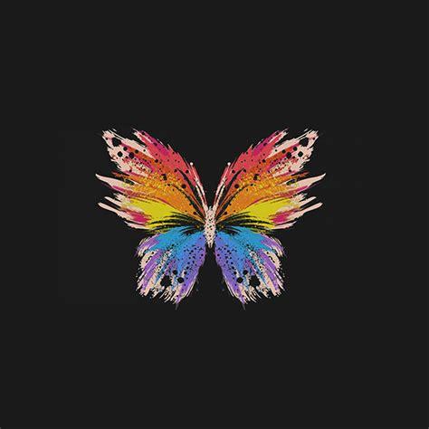 butterfly wallpaper for macbook ai76 butterfly art illust cute dark minimal
