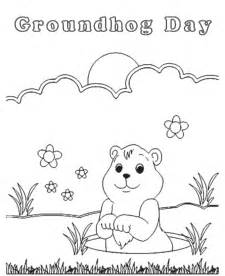 bluebonkers groundhog day coloring page sheets