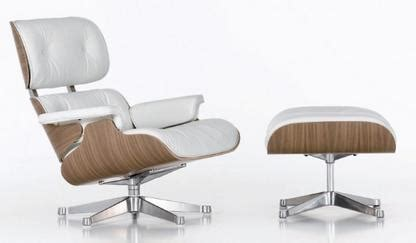 Charles Eames Lounge Chair And Ottoman Design Ideas Vitra Lounge Chair Ottoman White Version By Charles Eames 1956 Designer Furniture By