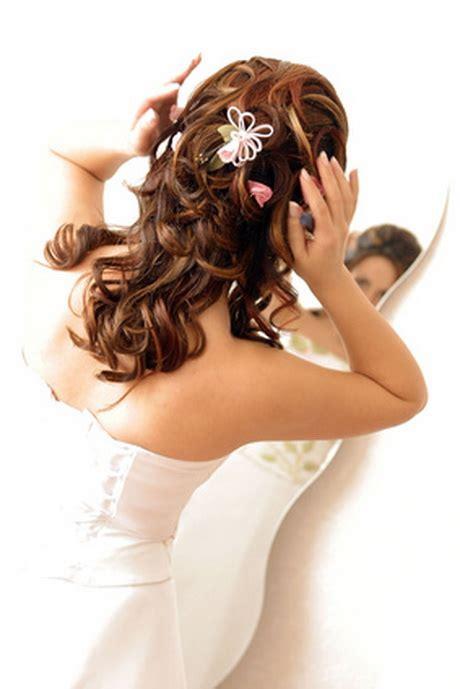Halb Hochgesteckte Brautfrisur by Brautfrisuren Halb Hochgesteckt