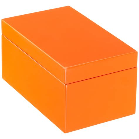 Buket Box Kado Bunga Box orange lacquered storage boxes the container store