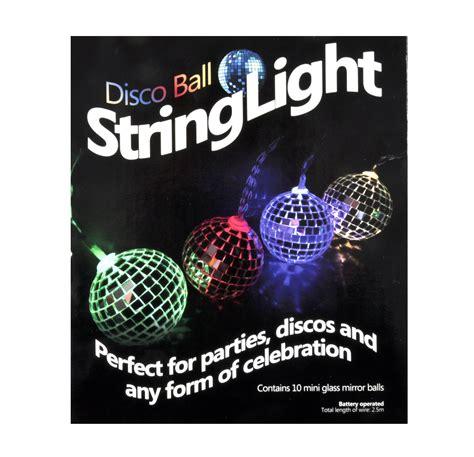 Disco Balls String Lights 10 Mini Light Up Glass Mirror Light Up Balls On String