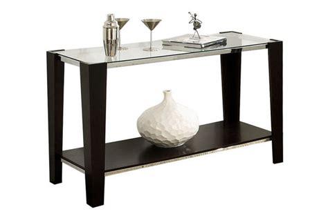 espresso sofa table espresso glass top sofa table
