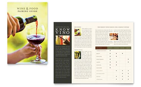 wine brochure template vineyard winery brochure template word publisher