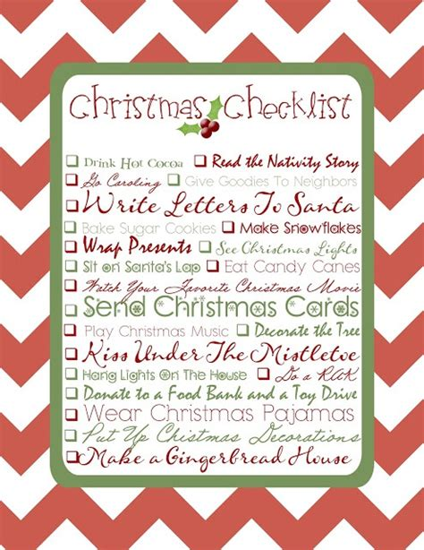 printable christmas planning checklist free christmas checklist printable christmas pinterest
