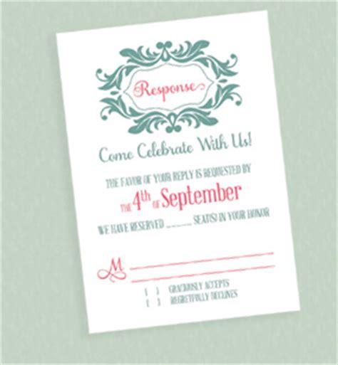monogram wedding invitation kits stylized monogram invitation for mint and pink wedding
