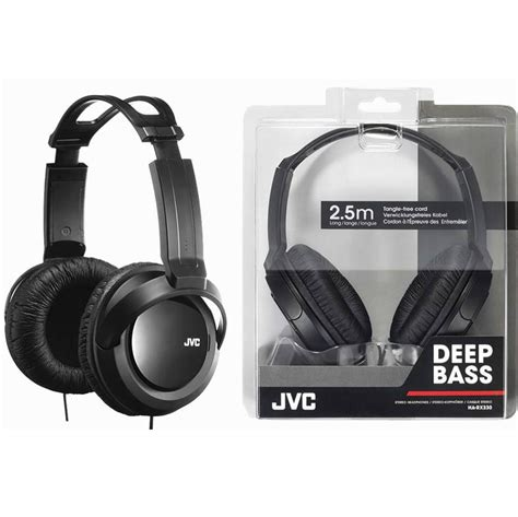 3 5mm Bass Ear Headphones Black jvc bass rx330 ear studio stereo headphones