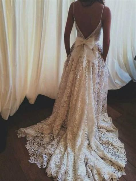 Best Unique Cocktail Drinks by Lace Wedding Dress Backless Wedding Dress Boho Wedding