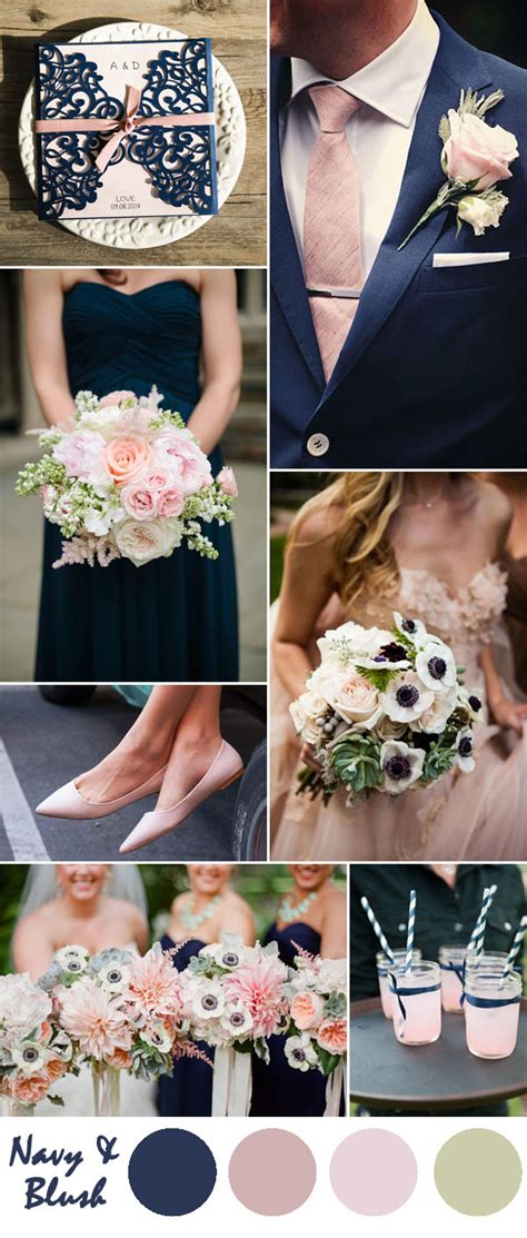 pink and blue wedding colors ten most gorgeous navy blue wedding color palette ideas