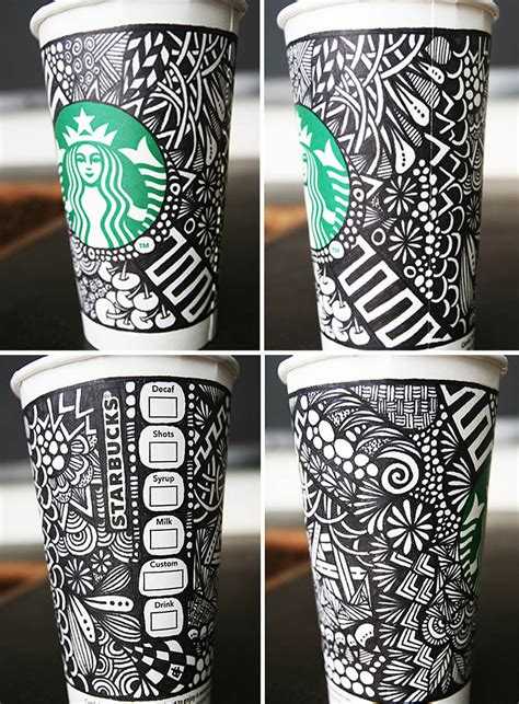 cup design contest artful cup design contests quot starbucks white cup quot