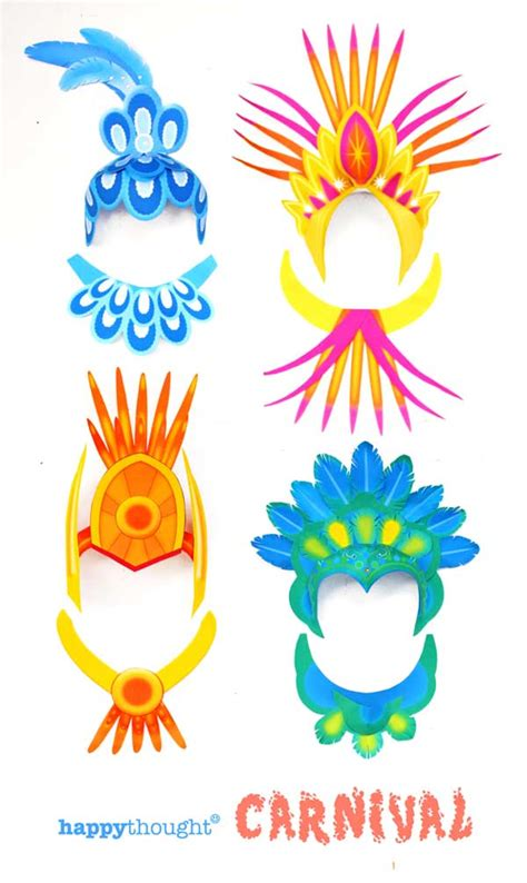 carnival template printable carnival headpiece template easy and to