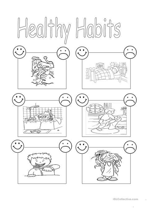 healthy habits worksheet free esl printable worksheets
