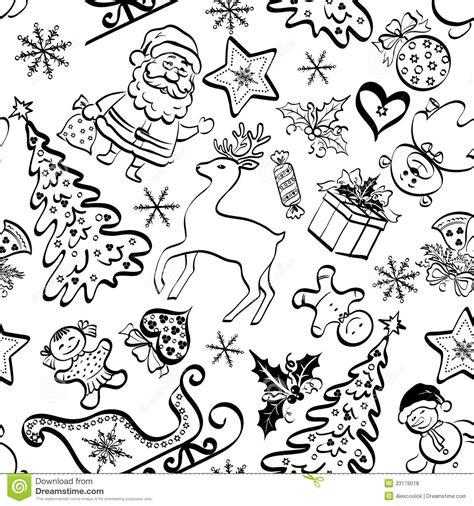 christmas pattern white christmas seamless pattern contour royalty free stock