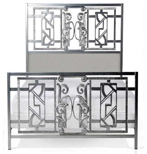 art deco beds corsican custom french art deco bed in silvertone finish
