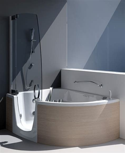 tub shower combination from teuco corner tub