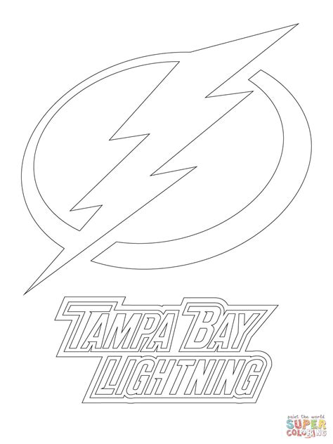 Ta Bay Lightning Logo Coloring Page Free Printable Lightning Coloring Pages