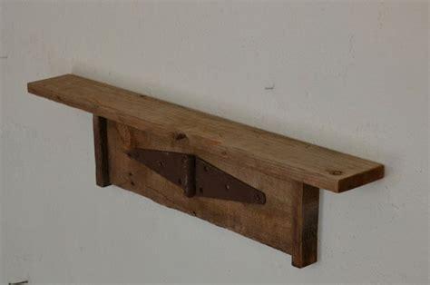 reclaimed barn wood wall shelf 27 wide rustic wall decor