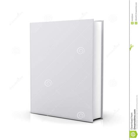 blank white book cover stock illustration image of