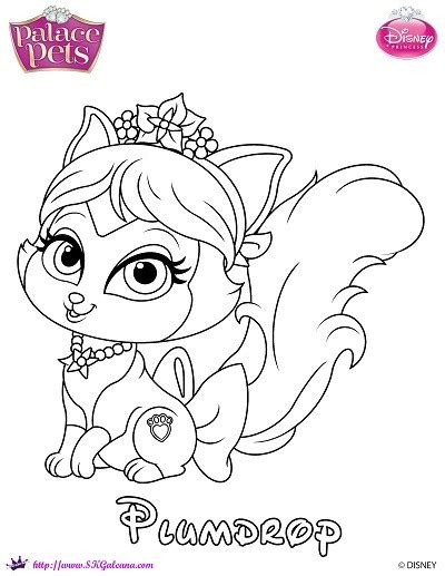 coloring pages princess pets princess palace pets coloring page of plumdrop skgaleana