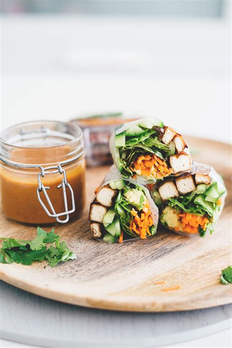 Vegan Kitchen by Vegan Teriyaki Tofu Summer Rolls Vegan Kitchen